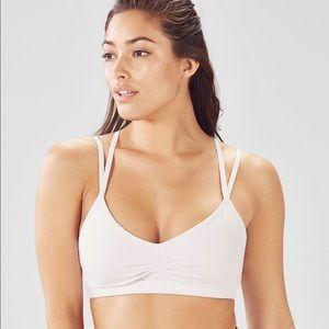 Fabletics | Kimberley Strappy White Sports Bra
